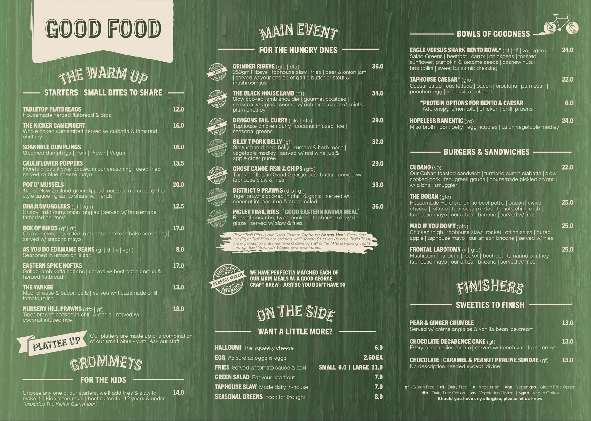 Good Eastern Taphouse NEW Menu 2020 page 2